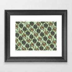 Artichoke Pattern Framed Art Print