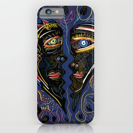 Love is Communication Street Art Graffiti Primitive Art iPhone Case