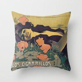 Cigarrillos Paris Throw Pillow