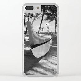 Kuau Hawaii Outrigger Canoe Paia Maui Hawaii Clear iPhone Case