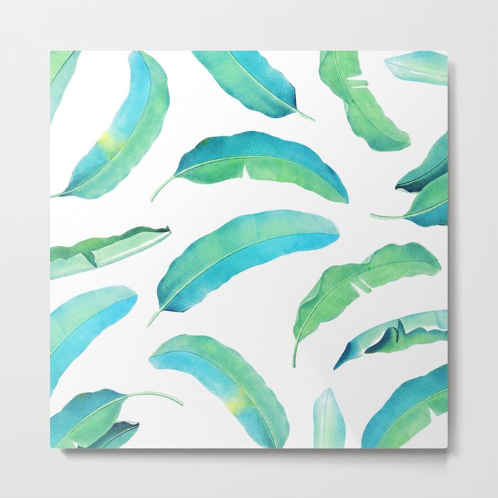 Turn Over a New Banana Leaf #society6 buyart #bananaleaves Metal Print