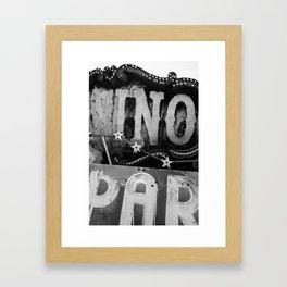Black & White Neon Framed Art Print