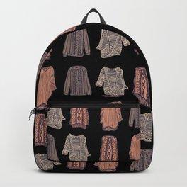 I love Fall  - Sweater Black Backpack