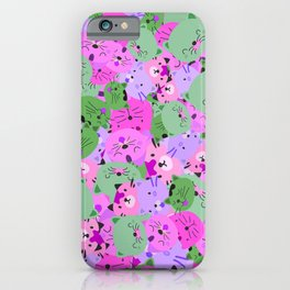 Cats galore iPhone Case