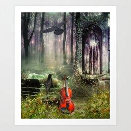 Gothic Dreamland Art Print