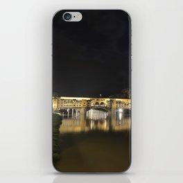 Ponte Vecchio at night iPhone Skin