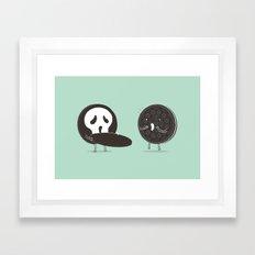 Cookies and Scream Framed Art Print