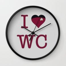 I Heart Wesley Crusher Wall Clock