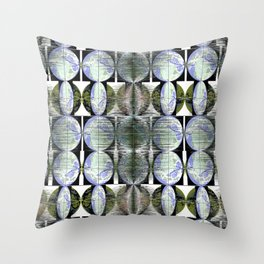 Hovercrafts Drawn to Roses Throw Pillow