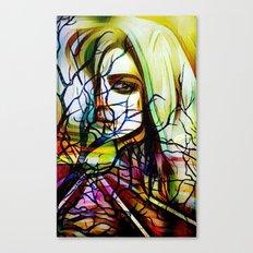 mysterious woman x Canvas Print