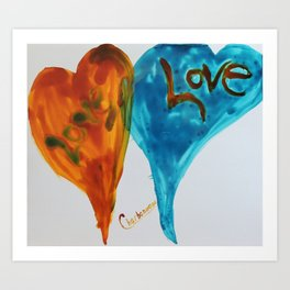 Love duo | Duo d'amour Art Print