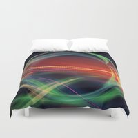 stargate Duvet Covers featuring The Gate Abstract by minx267
