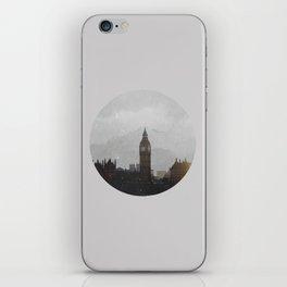 Grungy London Circle iPhone Skin