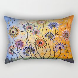 Abstract Art Flowers Floral Original Painting ... Explosion of Joy Rectangular Pillow