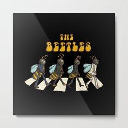 The Beetles Parody Metal Print