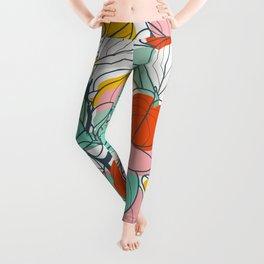 Peperomia leaves Leggings