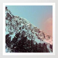 mountain ledge Art Print