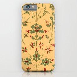 Floral Pattern Decor Ornaments iPhone Case