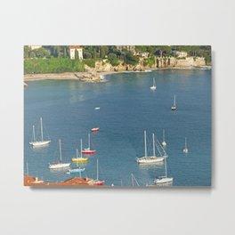 Boats in Villefranche Metal Print