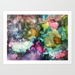 Abstract Colorful Nebulous Art Print