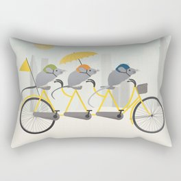 3 Bike Mice Rectangular Pillow