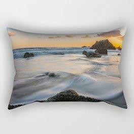 Sunset Over The Rocky Tide Rectangular Pillow