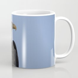 Bald Eagle on Watch along the Kenai River Coffee Mug