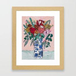 Australian Native Bouquet of Flowers after Matisse Gerahmter Kunstdruck