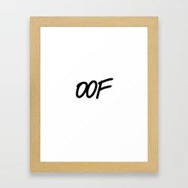 OOF Framed Art Print