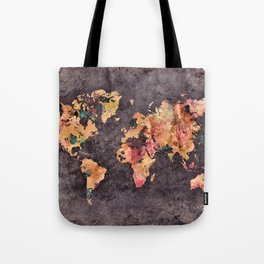 world map 68 Tote Bag