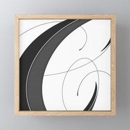 Letter C - Script Lettering Cropped Design Framed Mini Art Print