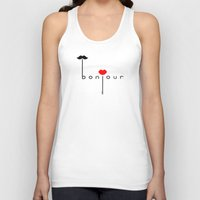 bonjour Tank Tops featuring Bonjour by JiaMiin Berglund
