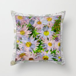 DAISEY MADNESS ABSTRACT  Throw Pillow