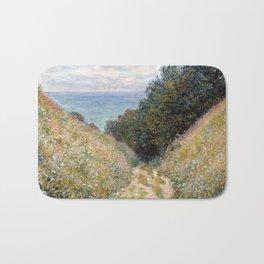 Road at La Cavée, Pourville by Claude Monet 1882 Bath Mat