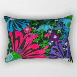BLUE-RED-PURPLE MUMS FLOWER GARDEN Rectangular Pillow