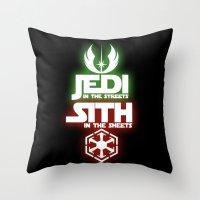 jedi Throw Pillows featuring Jedi by Liquidsugar