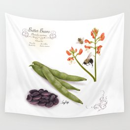 Butter Beans and Pollinators Wall Tapestry