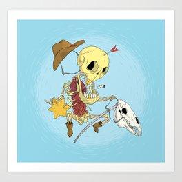 Cowboy Skull Art Print