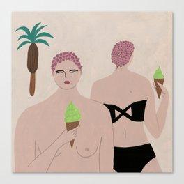 LIDO SWIMWEAR - ice cream Canvas Print