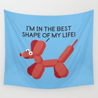 pun Wall Tapestries featuring Inflated Ego by David Olenick