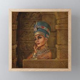 Nefertiti - Neferneferuaten the Egyptian Queen Framed Mini Art Print