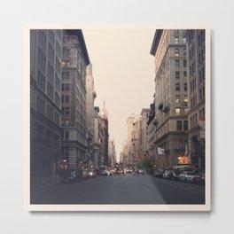 Barren City Street, NYC Metal Print