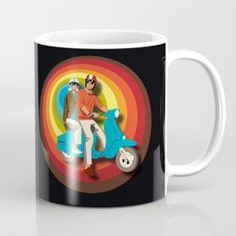 'Scooter Pair' Subway Soul by Dawn Carrington Coffee Mug