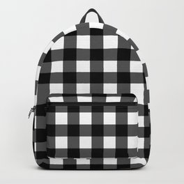 Plaid (Black & White Pattern) Backpack