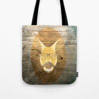 kangaroo Tote Bags featuring Kangaroo by Janice
