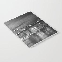 Manhattan Bridge - New York City at Night Notebook