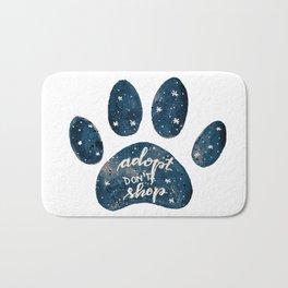 Adopt don't shop galaxy paw - blue Bath Mat