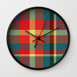 Summer Plaid 1 Wall Clock