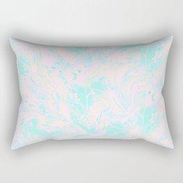 BLUE AND PINK PAINT SWIRL Rectangular Pillow