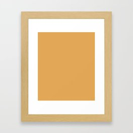 Indian Yellow - solid color Framed Art Print